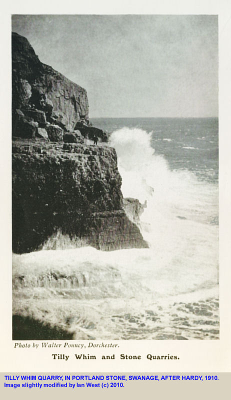 Tilly Whim Quarry after Hardy, 1910, near Durlston Head, Swanage, Dorset