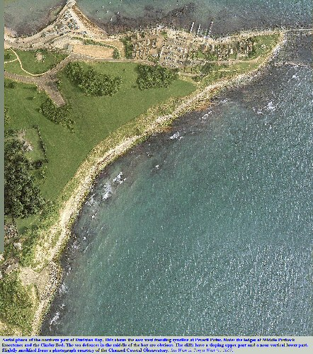 An aerial view of Durlston Bay, Swanage, Dorset, courtesy of the Channel Coastal Observatory