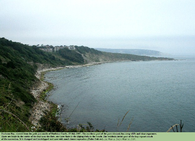 View of Durlston Bay, Swanage, Dorset, looking northward from Durlston Castle, 15 July 2007