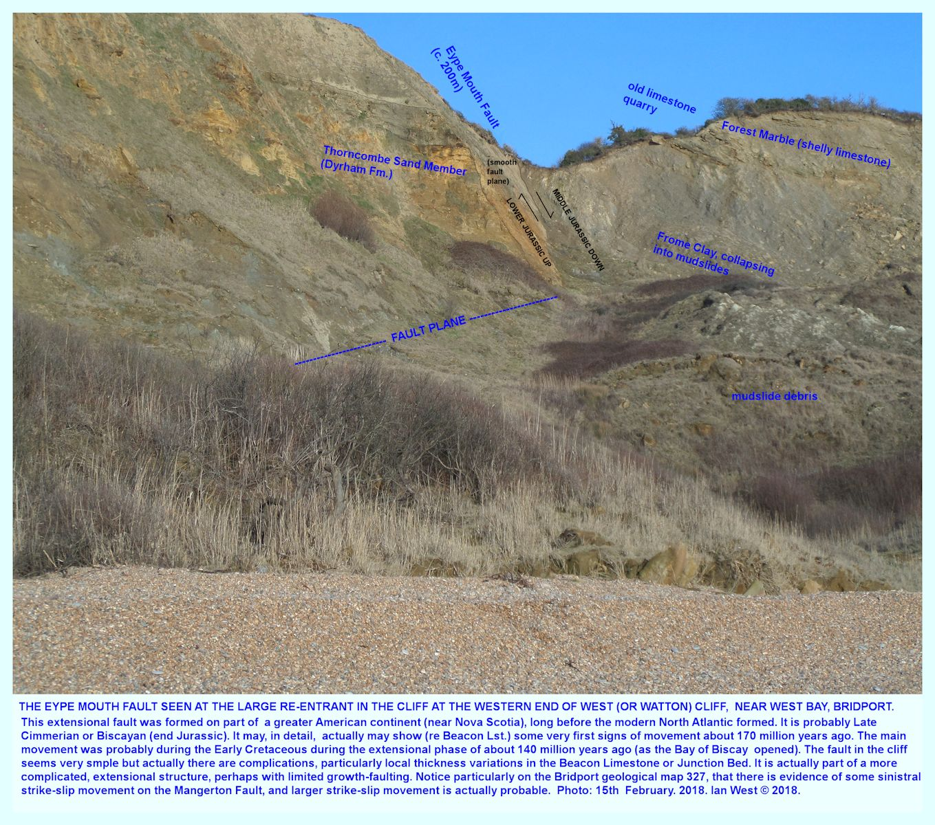Ana Maria Lepe bridport, west cliff to eype mouth - geologyian west
