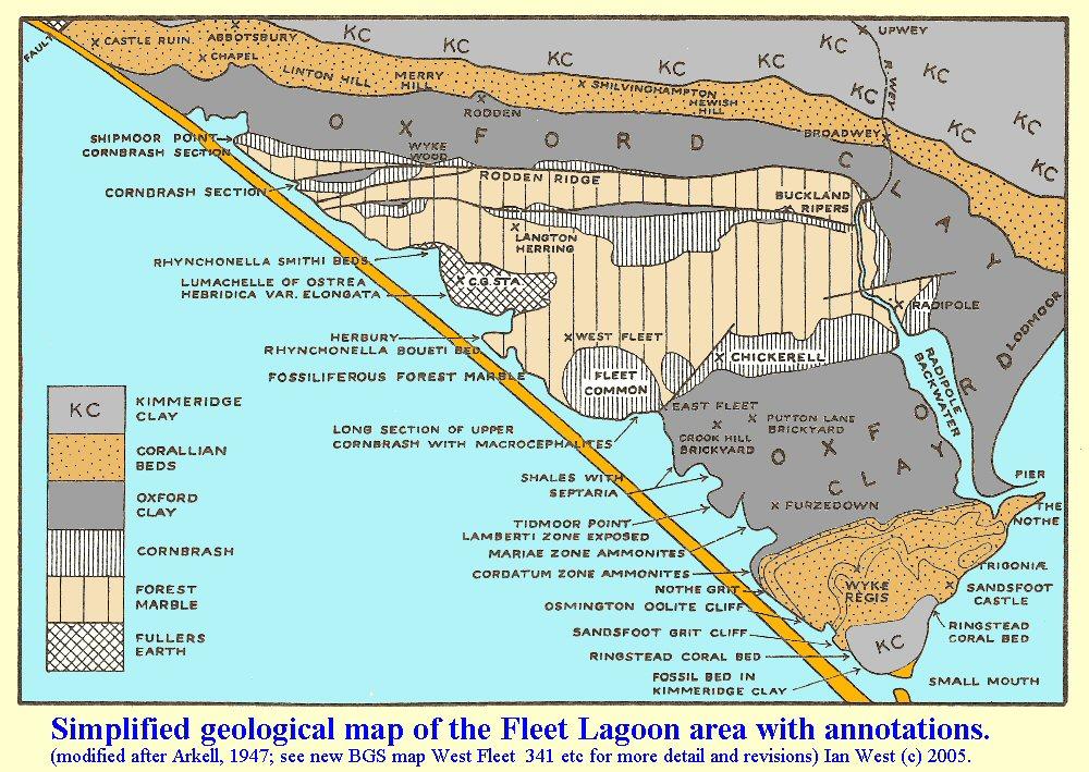 Chesil Beach Fishing Map