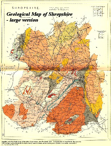 Geological Map of Shropshire, Solid Geology, 1904