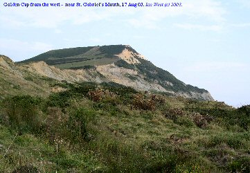 Golden Cap, Dorset, seen from the west