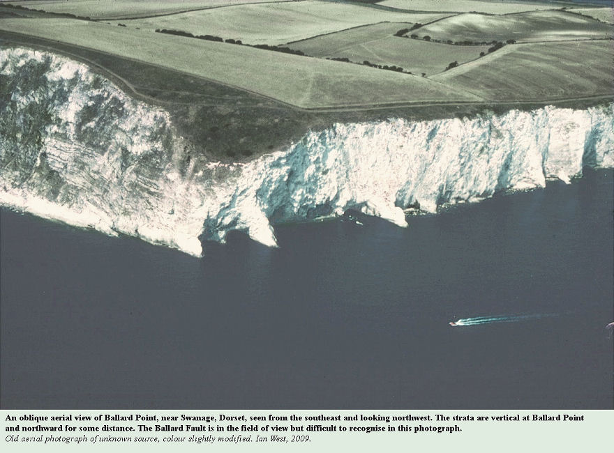 An oblique aerial photograph of Ballard Point, near Swanage, Dorset