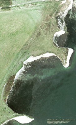 High resolution aerial photograph of Old Nick's Ground near Handfast Point and Harry Rocks, Dorset, courtesy of the Channel Coastal Observatory, photo 2000