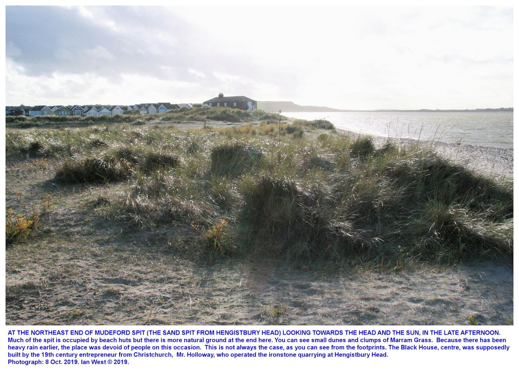 The far north-northeastern end of Mudeford Spit, 8th October 2019, Ian West