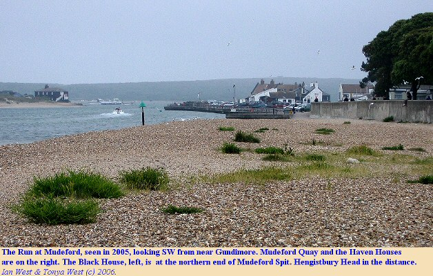 The Run at Mudeford, as seen in 2005 from near Gundimore, Dorset