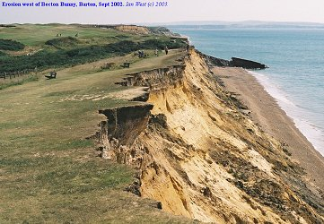 Erosion west of Becton Bunny, Sept 2002