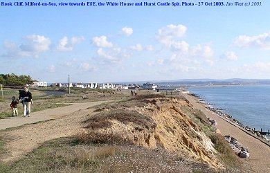 Rook Cliff, Milford-on-Sea, view towards the ESE