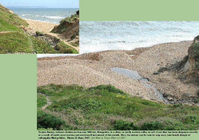 The mouth of Becton Bunny, between Barton-on-Sea and Milford-on-Sea, Hampshire, 2007
