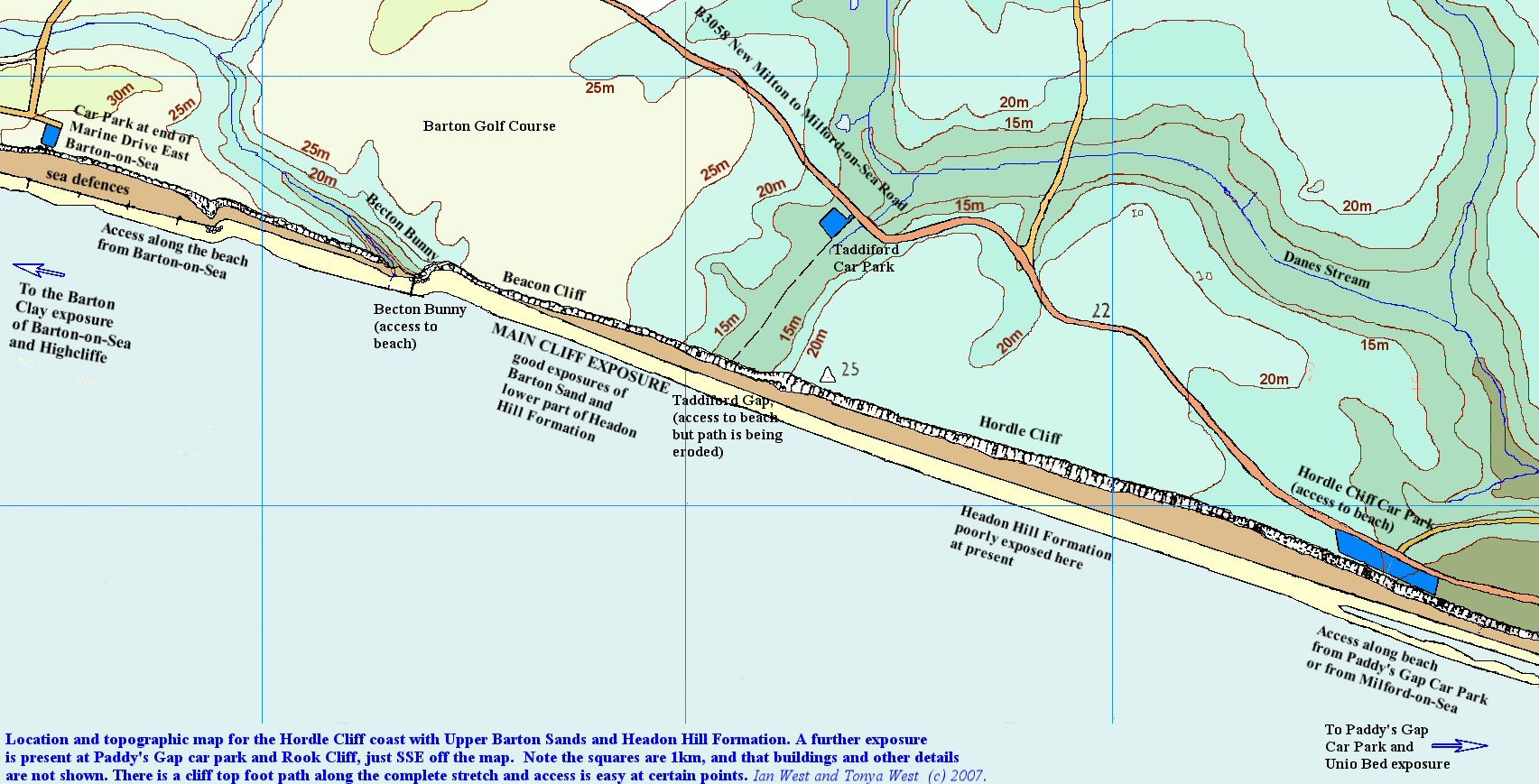 Geology of hordle cliff hampshire topographic and location map for the geology of hordle cliff hampshire pooptronica Image collections