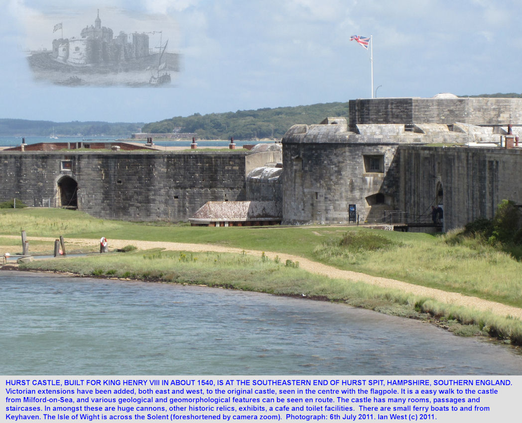 Hurst Castle, built in 1540 for King Henry VIII, at the end of Hurst Spit, Hampshire, July 2011