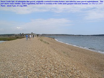 Hurst Spit, Hampshire, distal part, August 2002