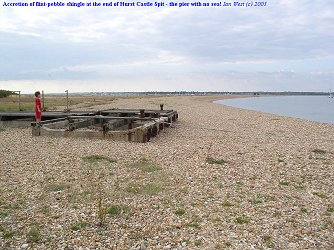 Accretion at Hurst Castle Spit, Hampshire, 23 August 2003
