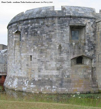 North bastion of the Tudor Castle at Hurst Castle Spit, Hampshire.