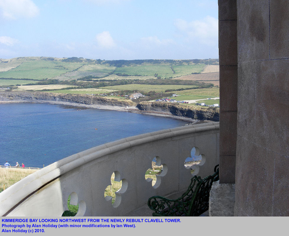 Kimmeridge Bay, Dorset, seen from the rebuilt Clavell Tower