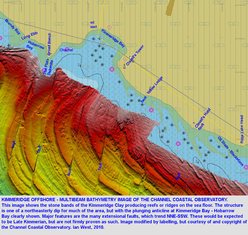 A multibeam bathymetry image of the sea floor south of Kimmeridge, Dorset, courtesy of the Channel Coastal Observatory
