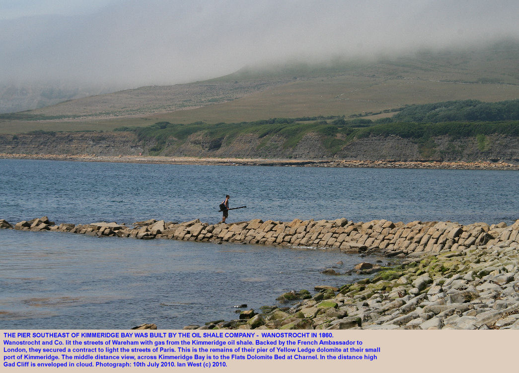 The stone pier of the oil shale company Wanostrocht, built in 1860 from blocks of Yellow Ledge dolomite, southeast of Kimmeridge Bay, Dorset, 2010