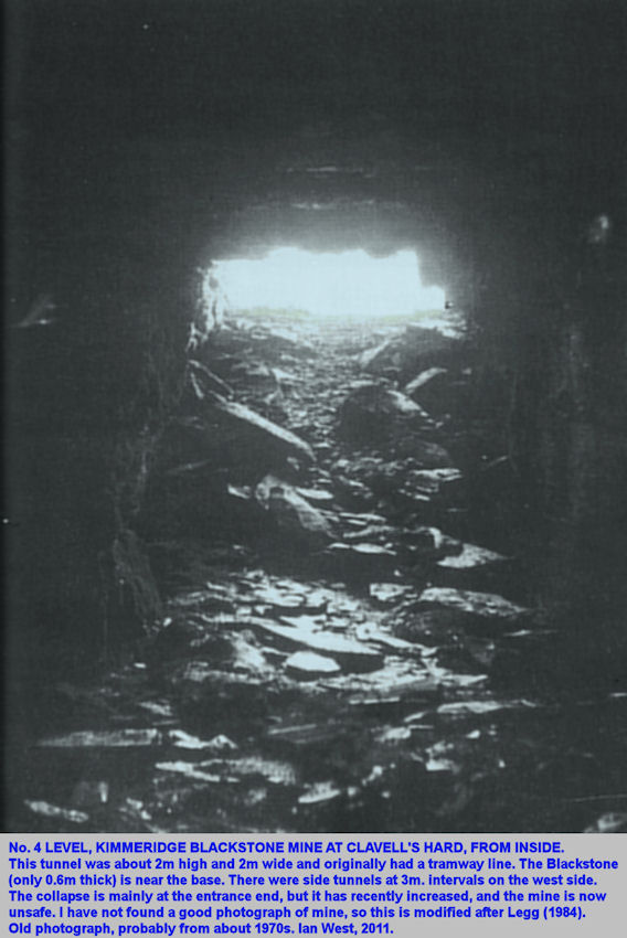 Inside No.4 Level, Kimmeridge Blackstone Mining Ledge, Clavell's Hard, east of Kimmeridge, Dorset