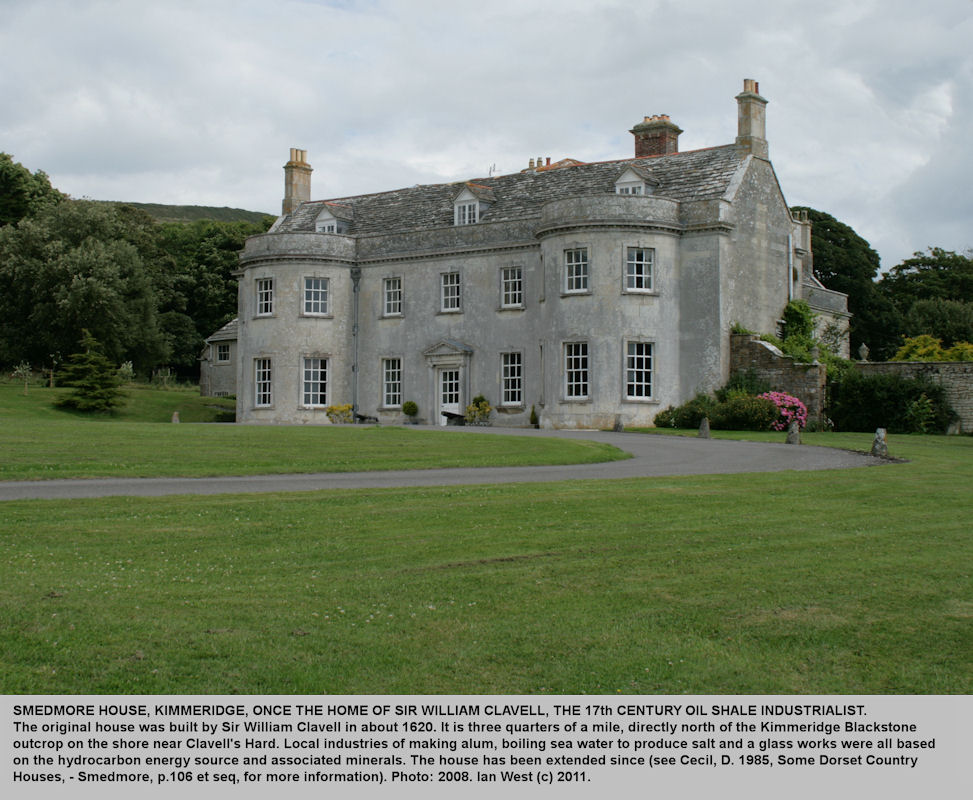 Smedmore House, Kimmeridge, Dorset, once the home of Sir William Clavell, the early oil shale industrialist, but since extended