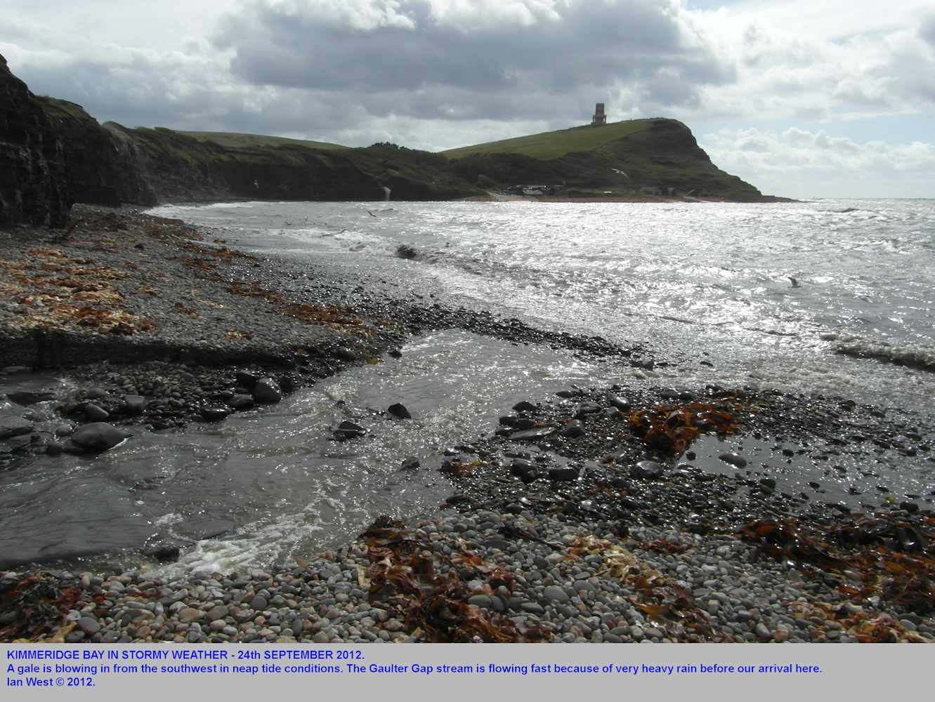Kimmeridge Bay, Dorset, in a southwesterly gale, 24th September 2012