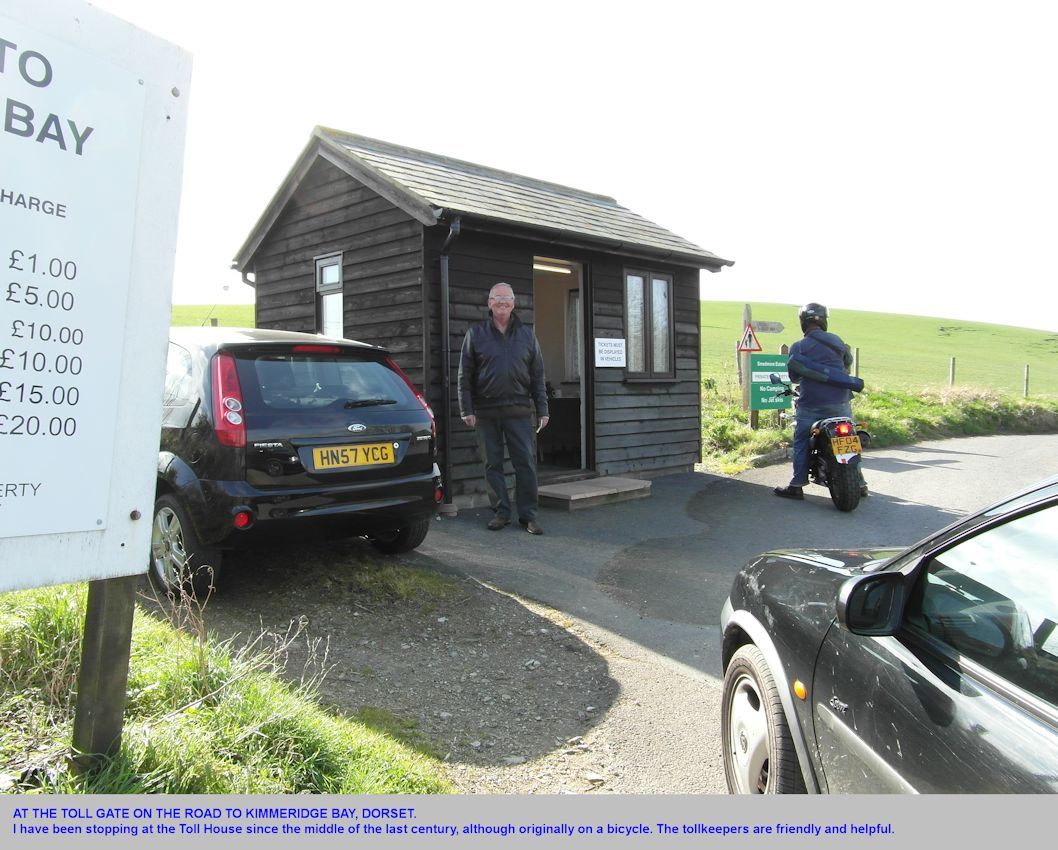 The tollkeeper and tollhouse at the road to Kimmeridge Bay, Dorset, 2012