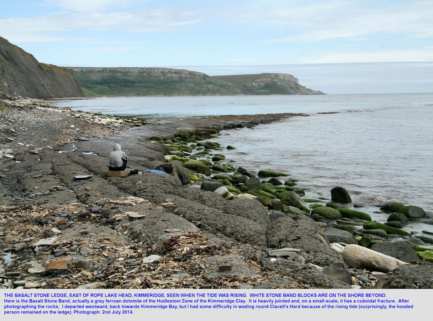 The Basalt Stone, a grey dolostone or dolomite, east of Rope Lake Head,  Kimmeridge, Dorset, 2010