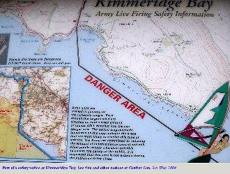 Safety notice at  Kimmeridge Bay, Dorset