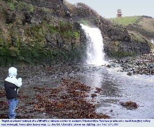 Waterfall in eastern Kimmeridge Bay, Dorset
