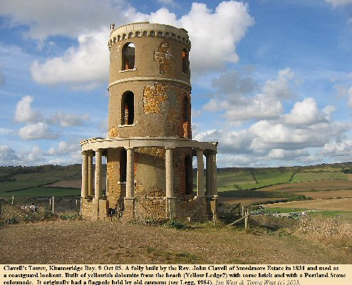 Clavell's Tower at  Kimmeridge Bay, Dorset, 9 Oct 2005