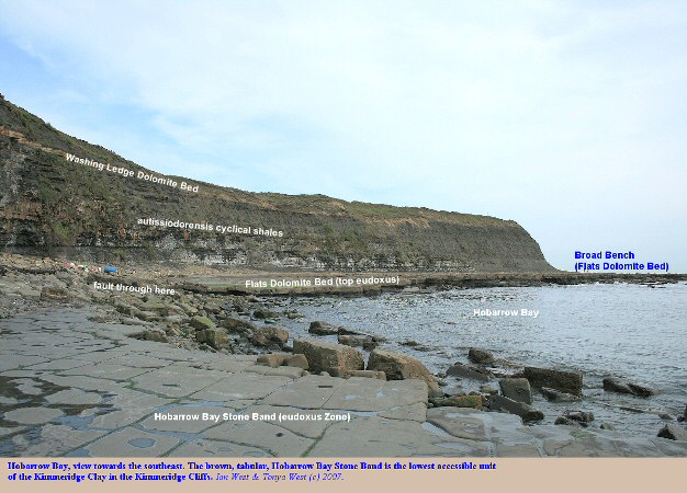 A view of Hobarrow Bay, west of Kimmeridge Bay, Dorset, as seen from the Hobarrow Bay Stone Band