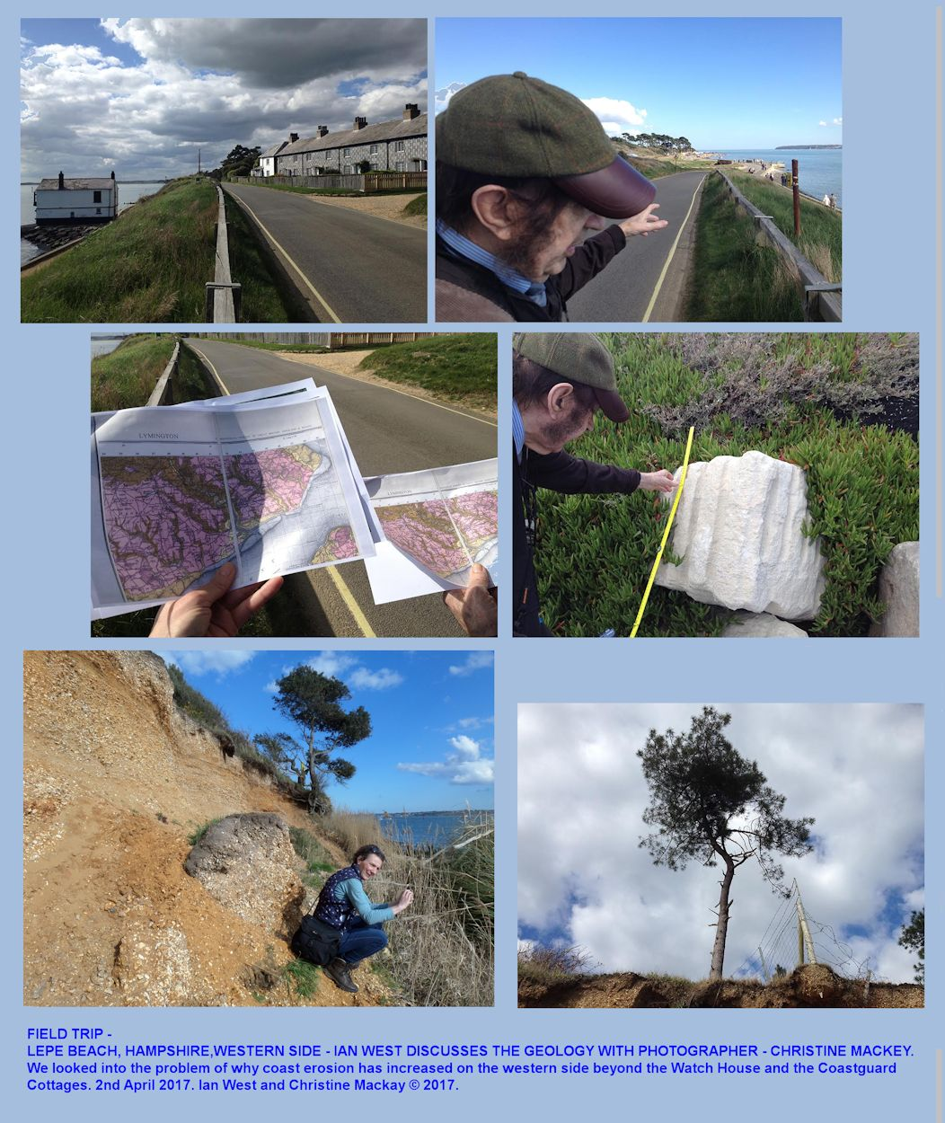 Introduction to the geology of Lepe Beach, Hampshire, with photographs by Christine Mackey, 2017