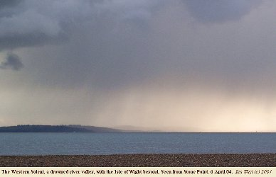 Western Solent in a storm, as seen from Stone Point