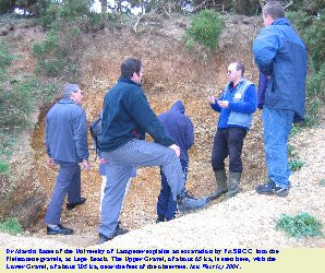 Excavation in the Upper Gravel of Lepe Beach, Hampshire, with Martin Bates