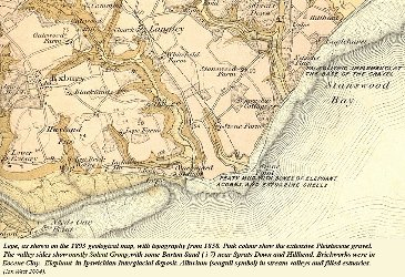 Late Victorian geological map of the Lepe area, Hampshire
