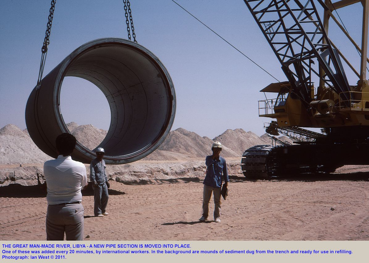 Pipes for the Great Man-Made River, Libya