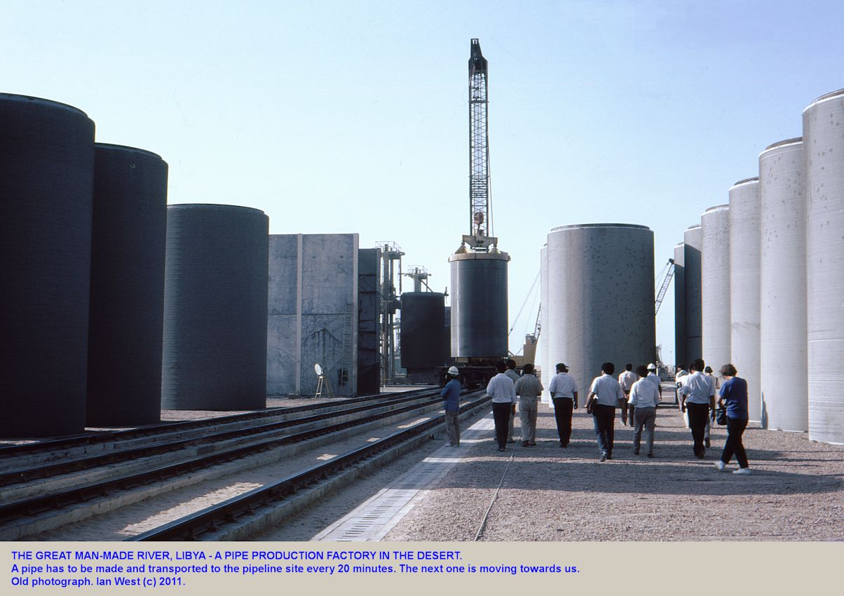 We walk into the factory for the huge pipes for the Great Man-Made River, Libya