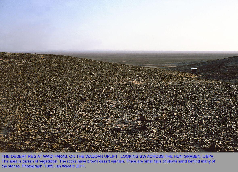 A desert reg at Wadi Faras, Waddan Uplift, near Waddan, Libya, 1985