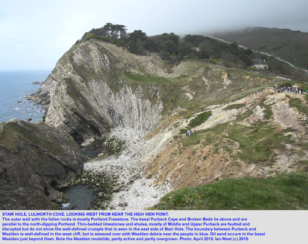 Stair Hole, western side, a general view, Lulworth Cove, Dorset, 2010