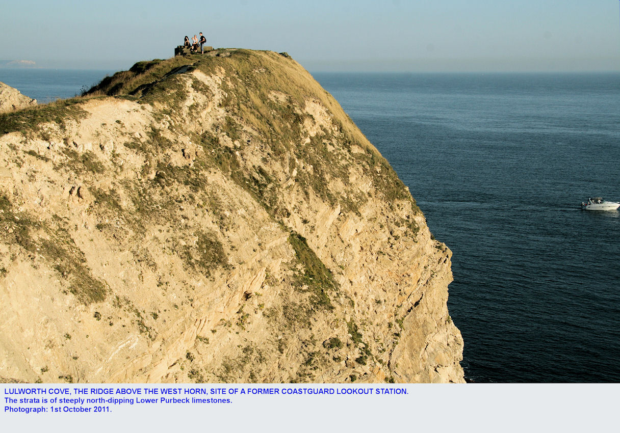 The site of the former coastguard lookout above West Horn, Lulworth Cove, Dorset, 2011