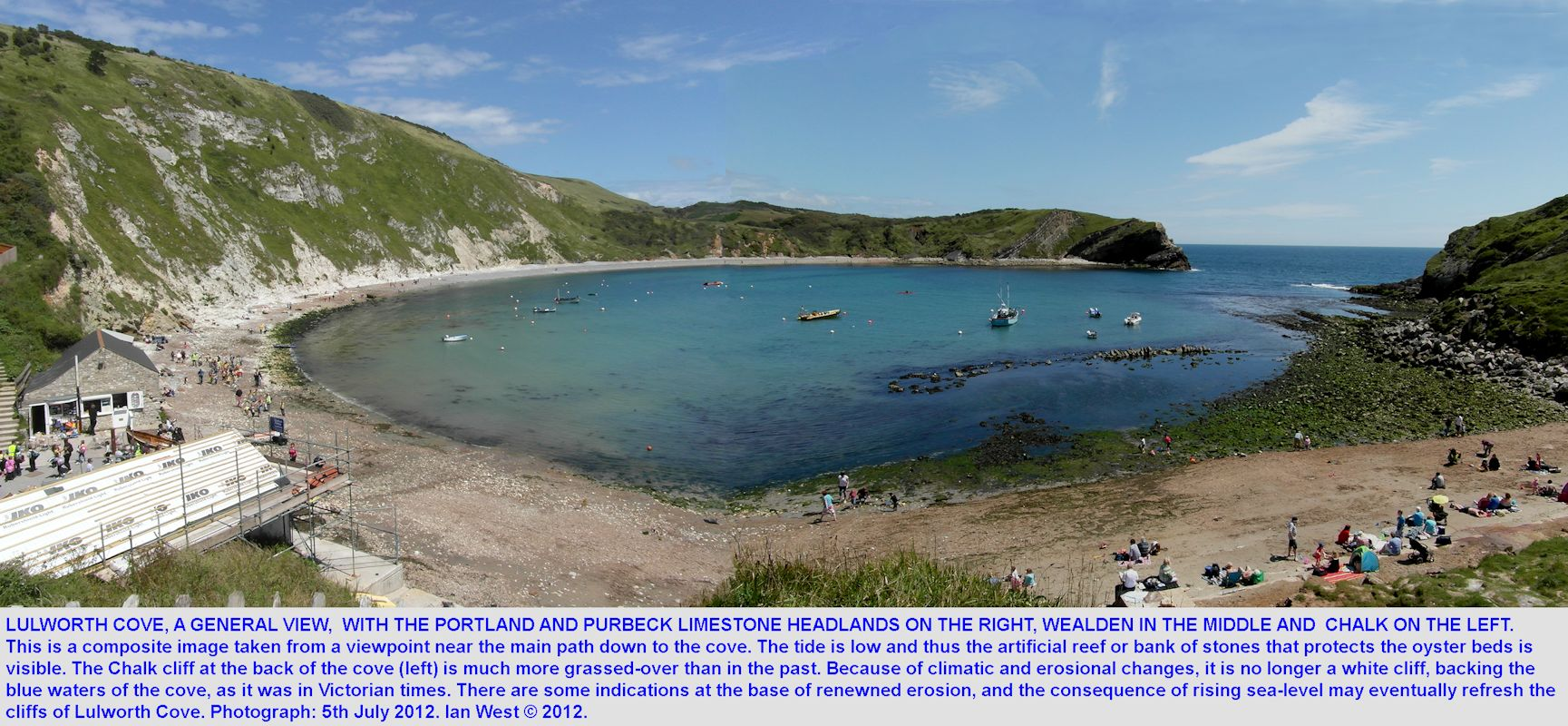 A general, broad view of Lulworth Cove, Dorset, 2012