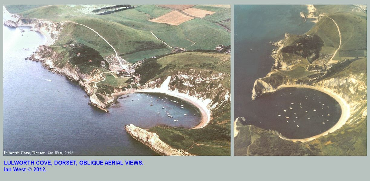 Oblique aerial views of Lulworth Cove, Dorset