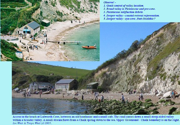 Access to the beach at Lulworth Cove, Dorset