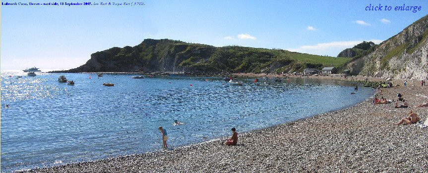 The west side of Lulworth Cove, Dorset, seen from the beach, 2005