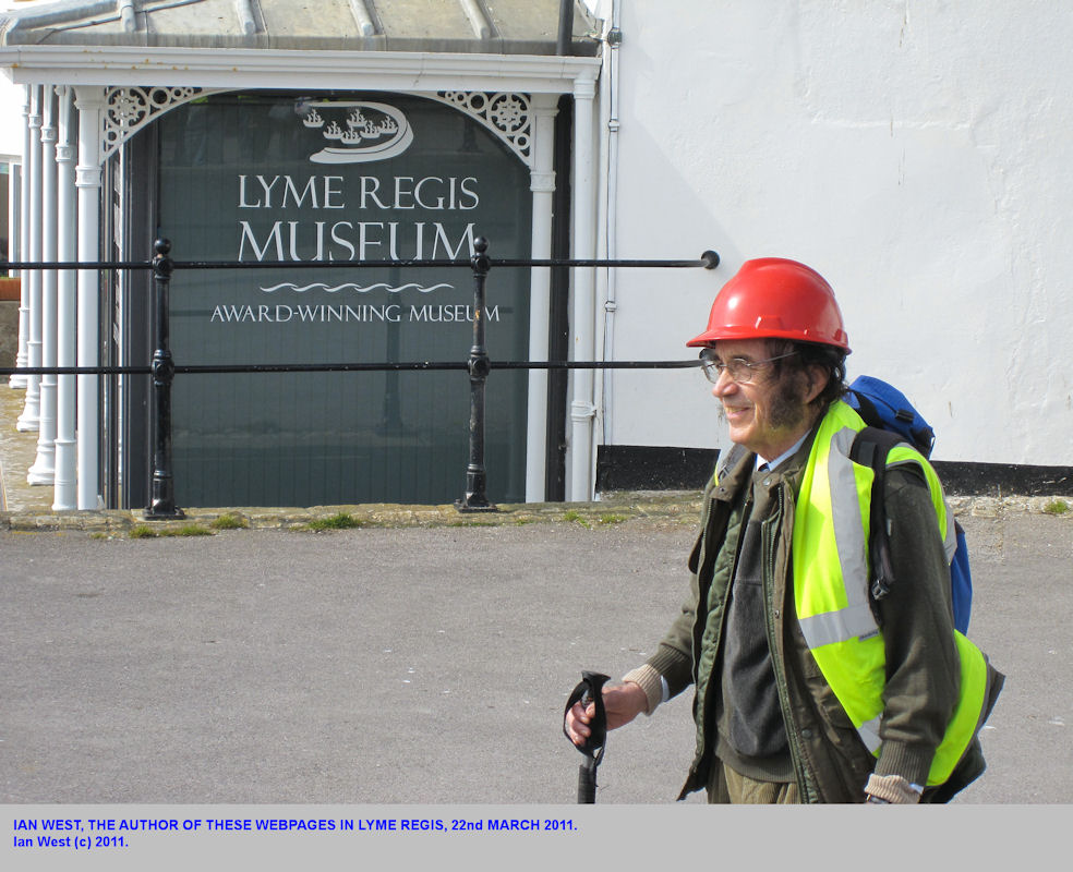 Ian West at the Museum, Lyme Regis, Dorset, 2011