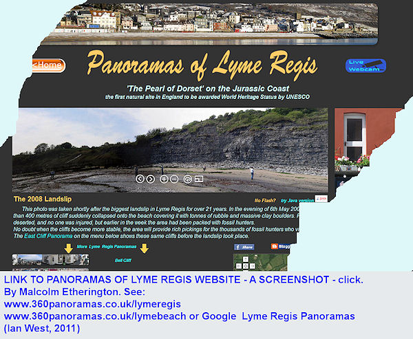 A link to Panoramas of Lyme Regis, Dorset