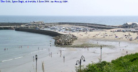 The Cobb at low tide, Lyme Regis, Dorset
