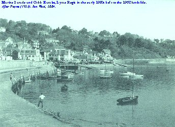 Cobb Hamlet and the Marine Parade, Lyme Regis in the early 1950s