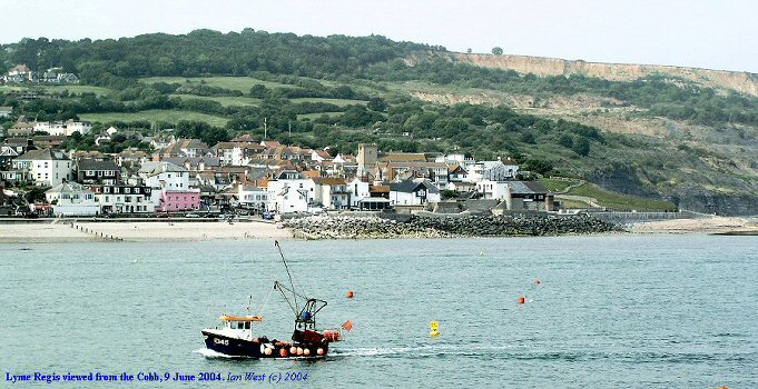 Lyme Regis, Dorset, viewed from the Cobb