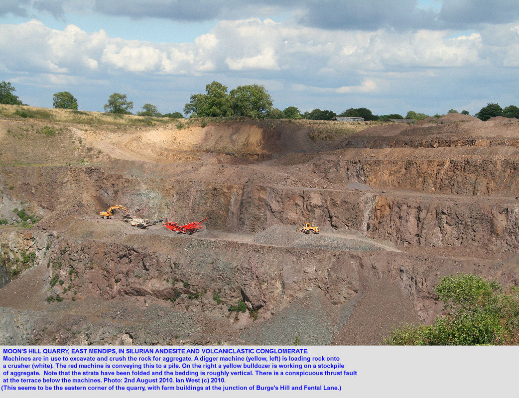 Moon's Hill Quarry in Silurian andesite and volcaniclastic conglomerate, Mendip Hills, Somerset, a general overview, 2010
